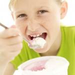 Kids eating desert first