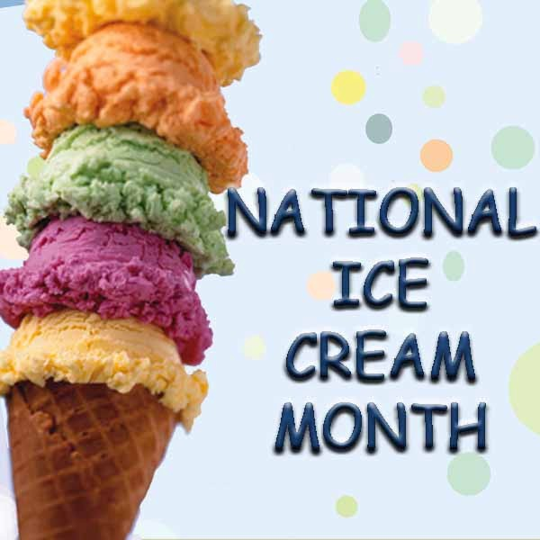 Image result for national ice cream month